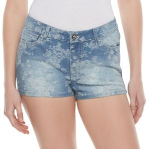 Juniors' Candie's® Floral Jean Shorts
