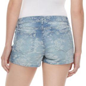 Juniors' Candie's® Floral Jean Shorts