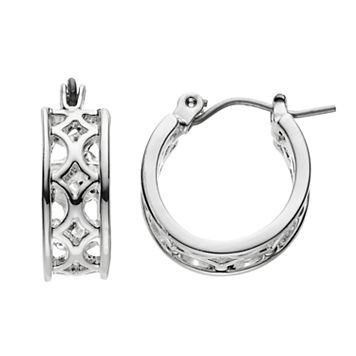 Chaps Openwork Hoop Earrings