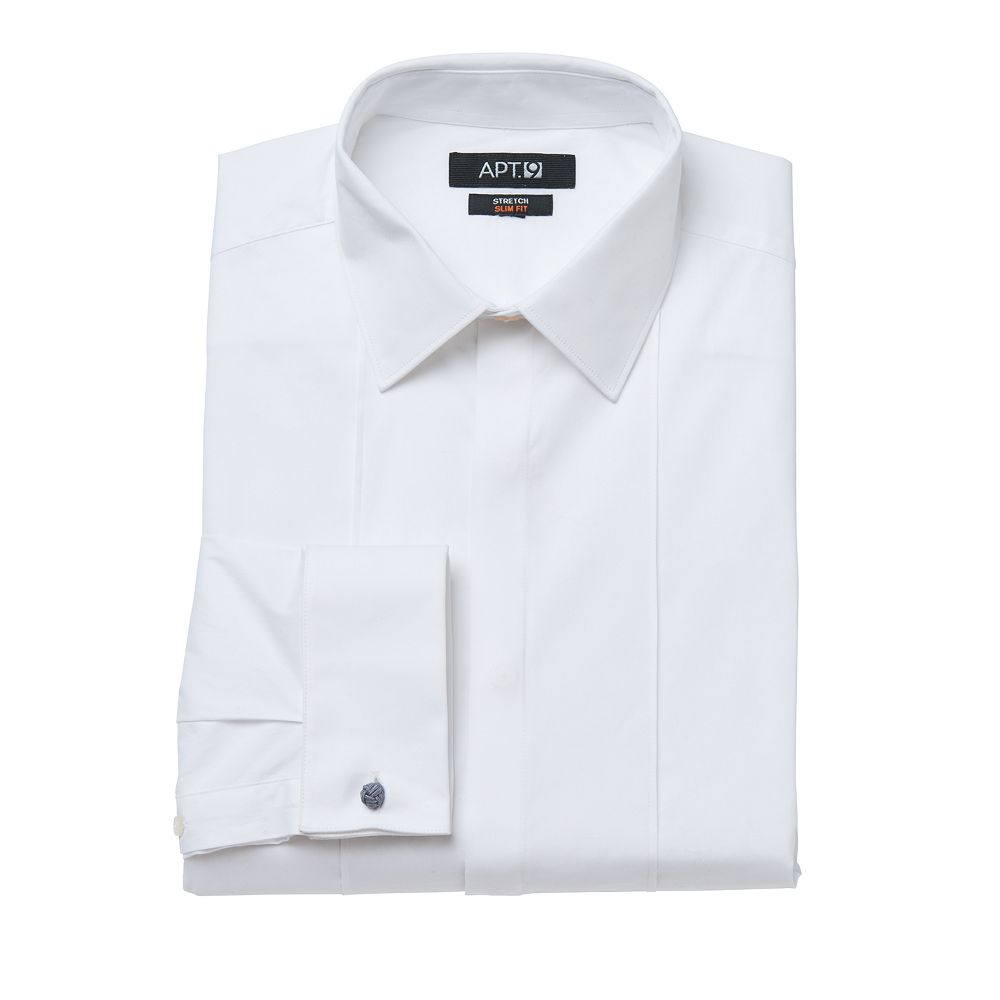 f9be755825c60 Men s Apt. 9® Slim-Fit Stretch Spread-Collar Tuxedo Dress Shirt