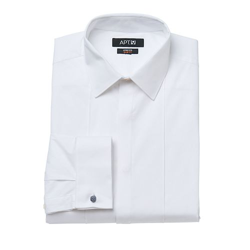 Men's Apt. 9® Slim-Fit Stretch Spread-Collar Tuxedo Dress Shirt