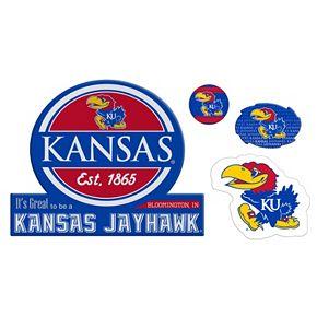 Kansas Jayhawks Game Day 4-Piece Magnet Set