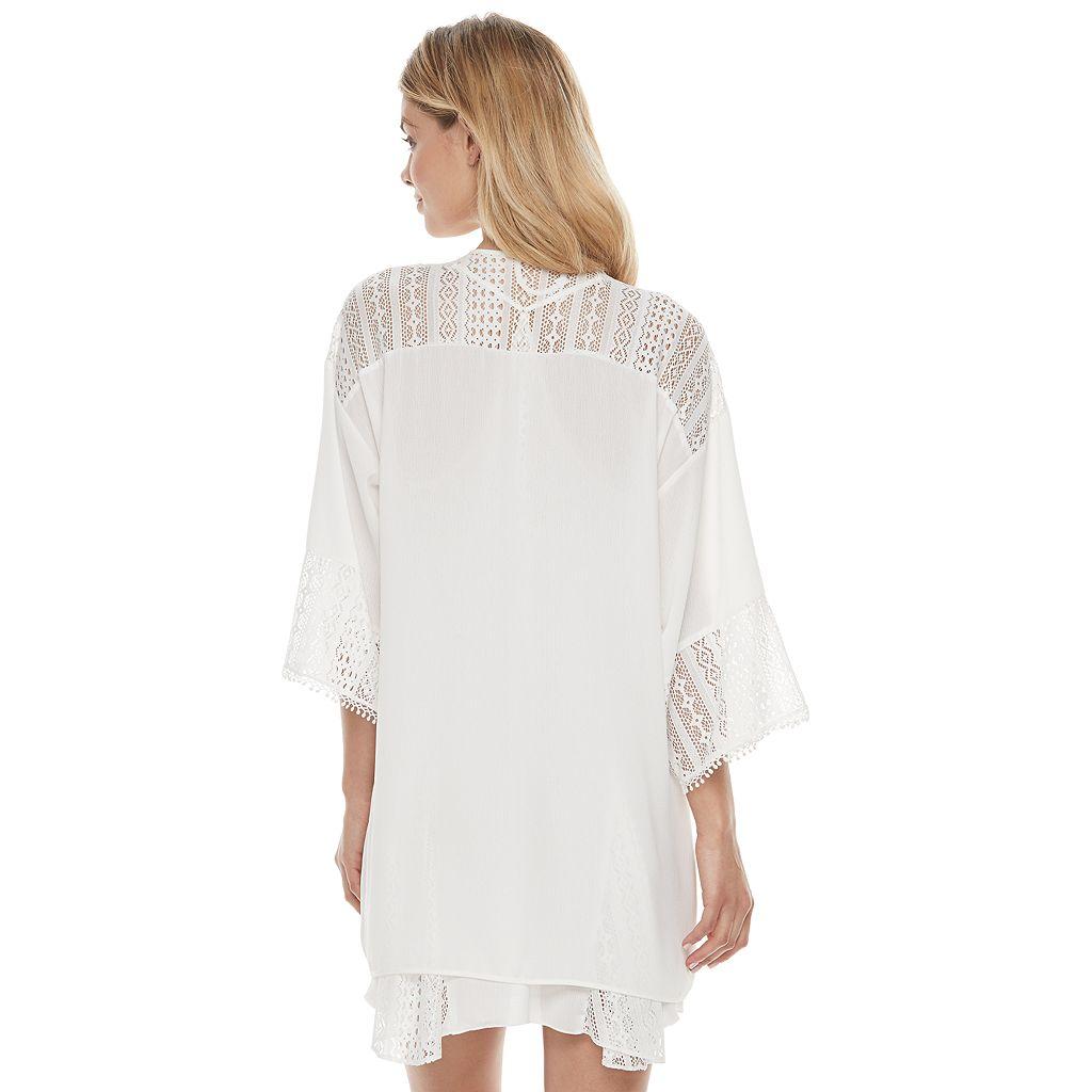 Women's Apt. 9® Bohemian Bride Lace Kimono Wrap