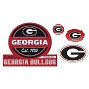 Georgia Bulldogs Game Day 4 pc Magnet Set