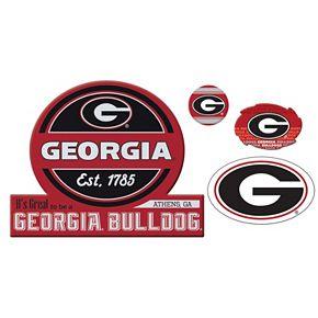 Georgia Bulldogs Game Day 4-Piece Magnet Set