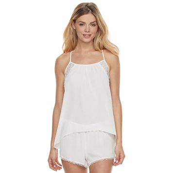 Women's Apt. 9® Bohemian Bride Shorts & Tank Lingerie Set
