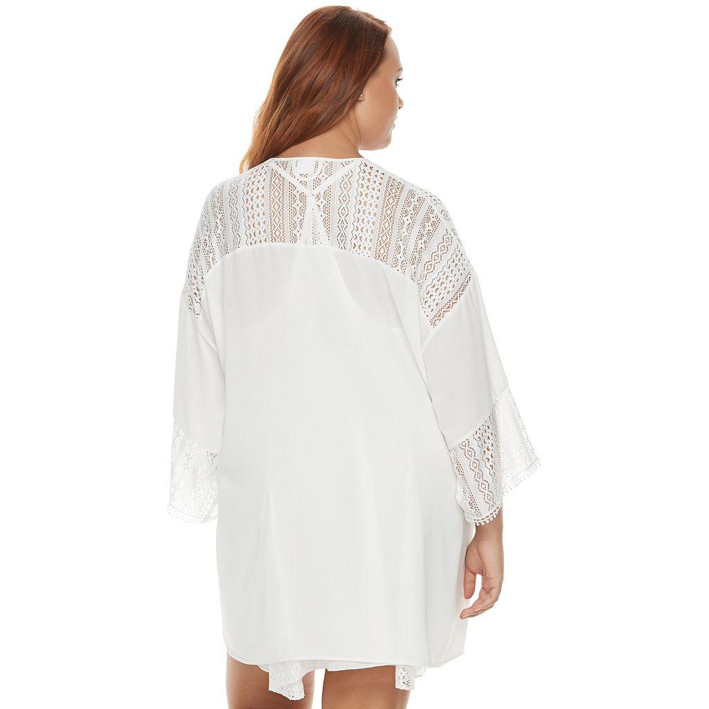 Plus Size Apt. 9® Bohemian Bride Lace Kimono Wrap