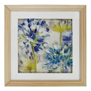 New View Painted Flowers Wall Decor