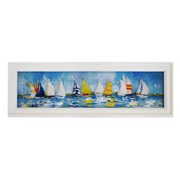 New View Sailboats Framed Wall Art