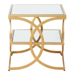 Madison Park Jace Gold Finish End Table