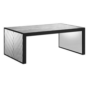Madison Park Mirrored Chevron Coffee Table