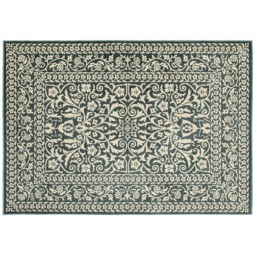 StyleHaven Juliet Two-Tone Traditional Framed Floral Rug