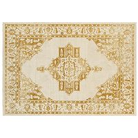 StyleHaven Juliet Two-Tone Traditional Framed Medallion Rug