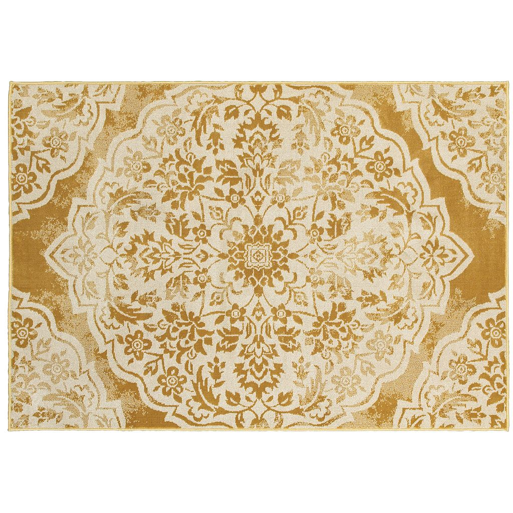 StyleHaven Juliet Two-Tone Floral Medallion Rug