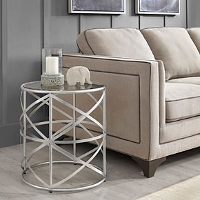 Madison Park Gold Finish End Table