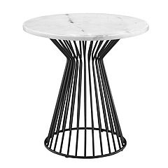 Madison Park Keaton Marble Top End Table