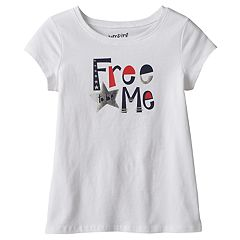 Girls 4-10 Jumping Beans® Short Sleeve 'Free to be Me' Foil Graphic Tee