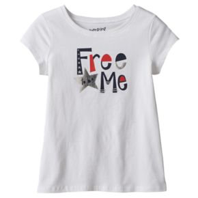 "Girls 4-10 Jumping Beans® Short Sleeve ""Free to be Me"" Foil Graphic Tee"