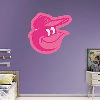 Baltimore Orioles Pink Team Logo Wall Decals by Fathead