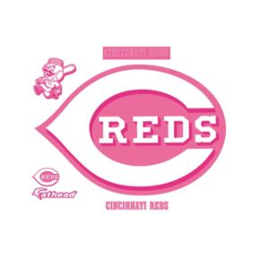 Cincinnati Reds Pink Team Logo Wall Decals by Fathead