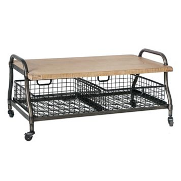 Madison Park Riles Industrial Coffee Table