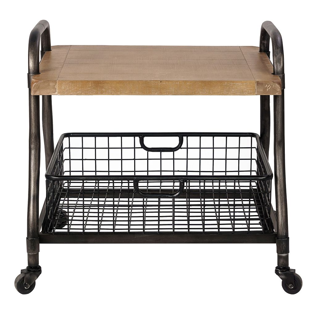Madison Park Riles Industrial End Table