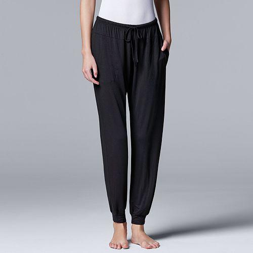 Women's Simply Vera Vera Wang Basic Luxuries Banded Bottom Sleep Pants Pants