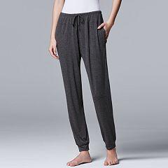 Women's Simply Vera Vera Wang Basic Luxuries Jogger Pants
