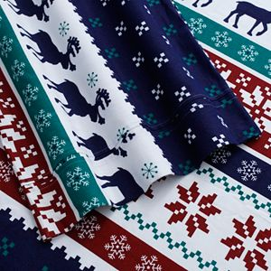 North Pole Printed Luxury Cotton Flannel Sheet Set
