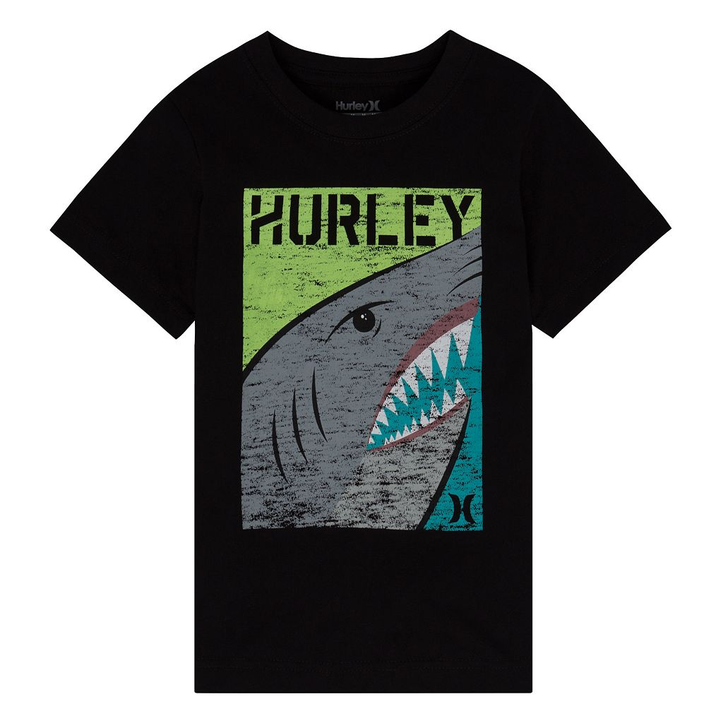 Boys 4-7 Hurley Shark Split Graphic Tee