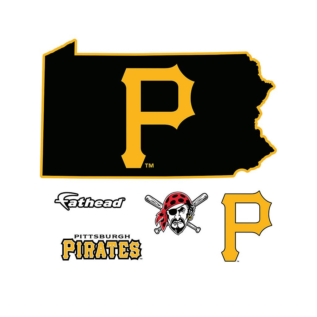 Pittsburgh Pirates State Wall Decals by Fathead