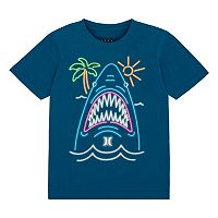 Boys 4-7 Hurley Glow-in-the-Dark Neon Shark Tee