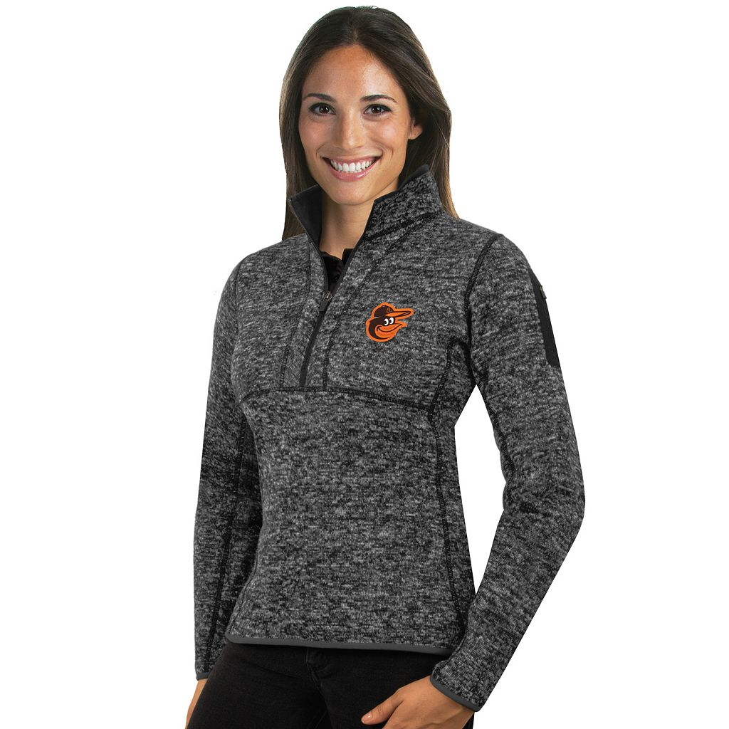 Women's Antigua Baltimore Orioles Fortune Midweight Pullover Sweater
