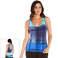 Women's Balance Collection Ladder Back Tie Dye Tank Top