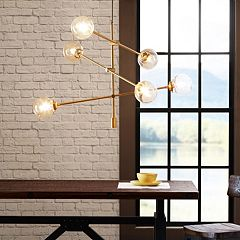 INK+IVY 6-Light Gold Finish Chandelier