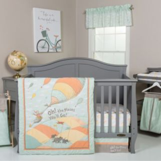 """Dr. Seuss """"Oh, the Places You'll Go!"""" Mint 5-pc. Crib Bedding Set by Trend Lab"""
