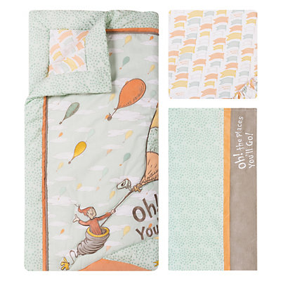 "Dr. Seuss ""Oh, the Places You'll Go!"" Mint 5-pc. Crib Bedding Set by Trend Lab"