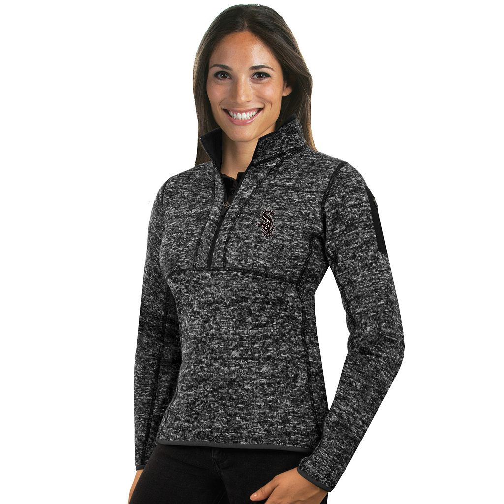 Women's Antigua Chicago White Sox Fortune Midweight Pullover Sweater