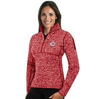 Women's Antigua Cincinnati Reds Fortune Midweight Pullover Sweater