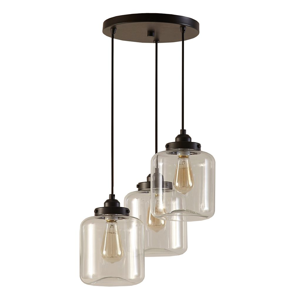 INK+IVY Modern Industrial 3-Light Pendant Chandelier