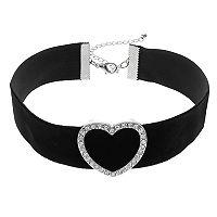 Mudd® Heart Velvety Choker Necklace