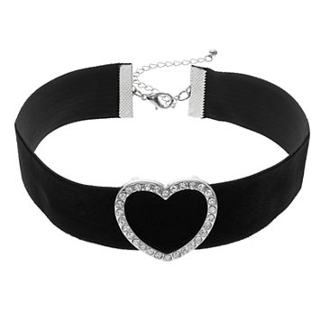 Mudd® Heart Velvety Choker Necklace