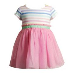 Baby Girl Youngland Striped Tulle Dress