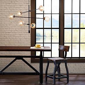 INK+IVY 6-Light Modern Glass Chandelier