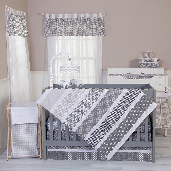 Trend Lab Ombre Grey 5 Pc Crib Bedding Set, Grey And Crib Bedding