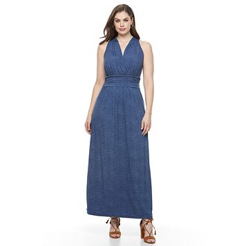 Plus Size Suite 7 Ruched Waist Maxi