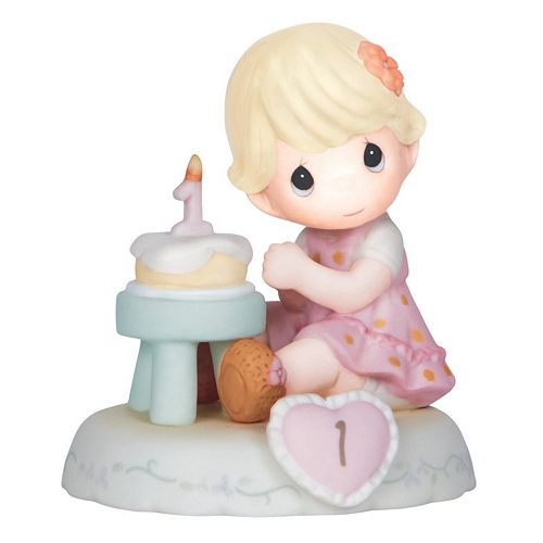 Precious Moments Age 1 Girl & Cake Figurine