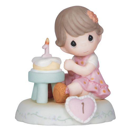 Precious Moments Age 1 Girl & Cake Figurine