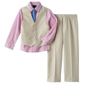 Boys 4-7 Van Heusen Vest 4-Piece Set