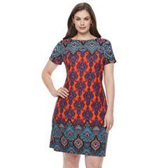 Plus Size Suite 7 Paisley Torch Shift Dress